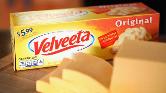 Velveeta cheese, a product of Kraft Foods
