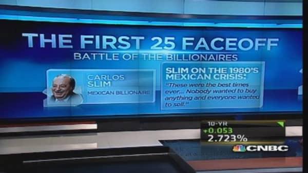 CNBC 25 faceoff: Battle of the billionaires
