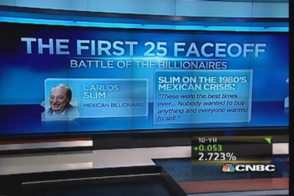 CNBC 25 faceoff: Battle of the billionaires