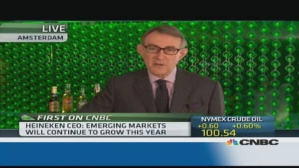 Heinken will grow at slower pace in EM: CEO