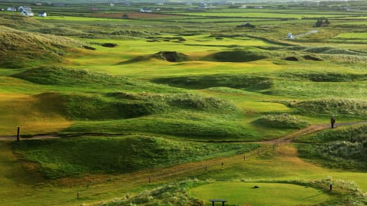 Doonbeg Golf Club on August 18, 2010 in Doonbeg, Co Clare, Republic of Ireland.