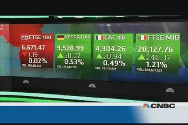 Europe shares close higher on China data, US debt deal