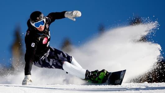 Snowboarder Justin Reiter.