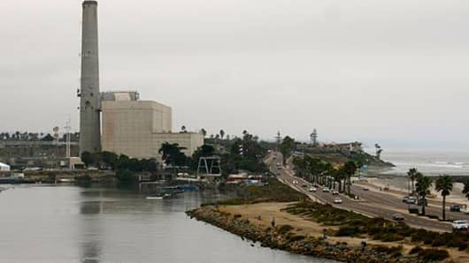 A desalination plant in Carlsbad, Calif.