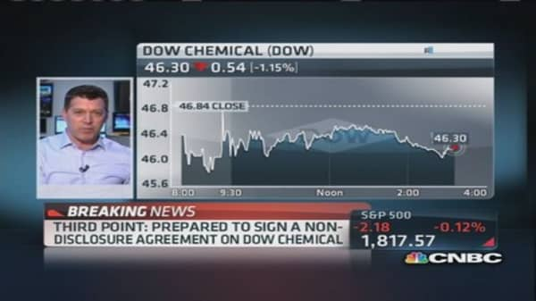 Third Point to sign non-disclosure on Dow Chemical