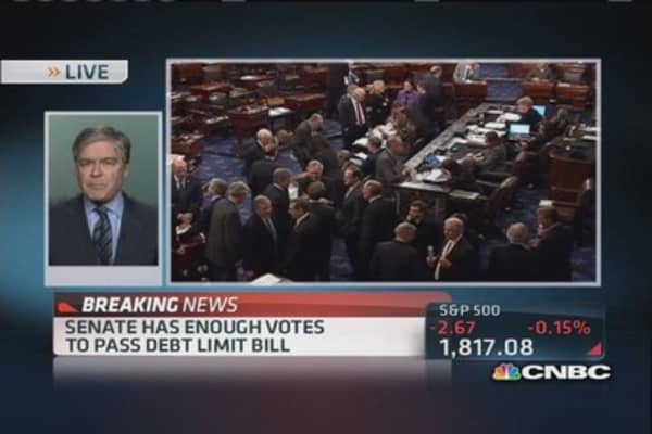Senate advances debt limit bill