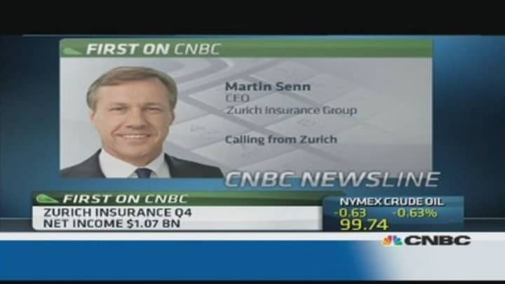 Zurich Insurance CEO on profit miss