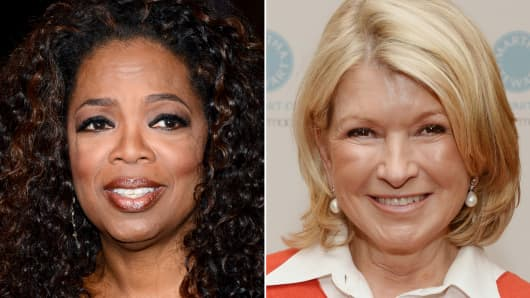 Oprah Winfrey and Martha Stewart