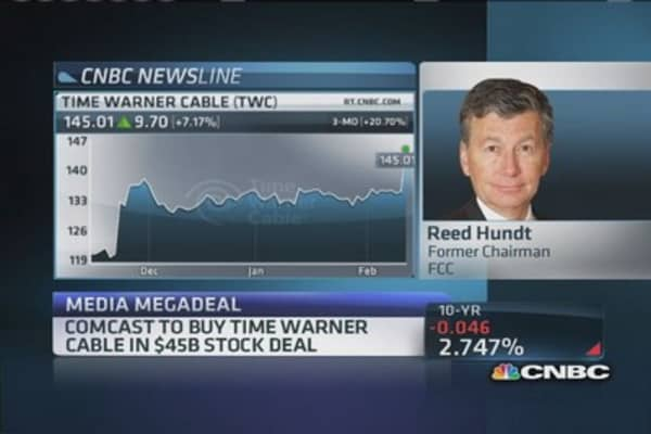 Former FCC Chair: TWC/Comcast deal 'too big to sail'