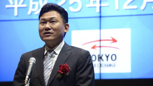 Hiroshi Mikitani, chairman and chief executive officer of Rakuten Inc.