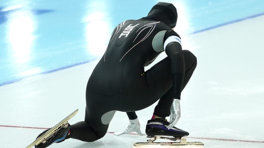 Heather Richardson of the United States competes during the Women's 1000m Speed Skating event on day 6 of the Sochi 2014 Winter Olympics at Adler Arena Skating Center on February 13, 2014 in Sochi, Russia.