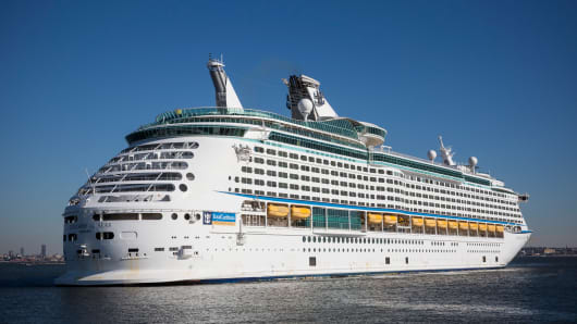 The Royal Caribbean cruise ship 'Explorer of the Sea'.