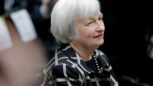Janet Yellen, Federal Reserve Board chair, appears before the House Financial Services Committee on Feb. 11, 2014.