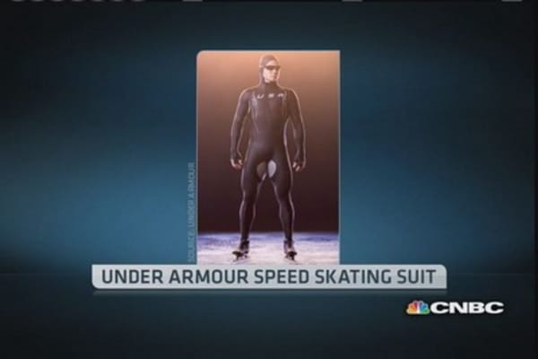 Under Armour under fire for speed skating suits