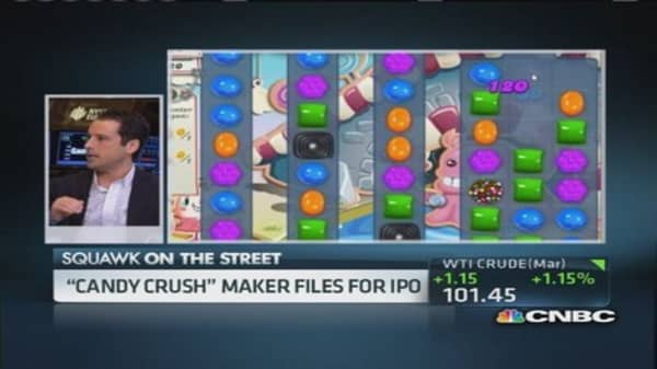 'Candy crush' maker files for IPO