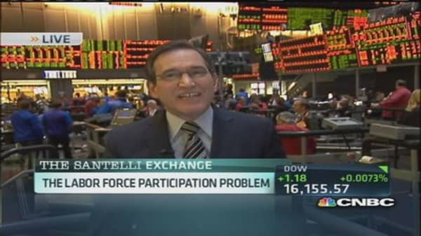 Santelli: US facing 'chronic' labor participation problem