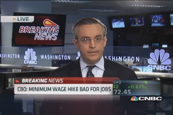 CBO: Minimum wage hike bad for jobs