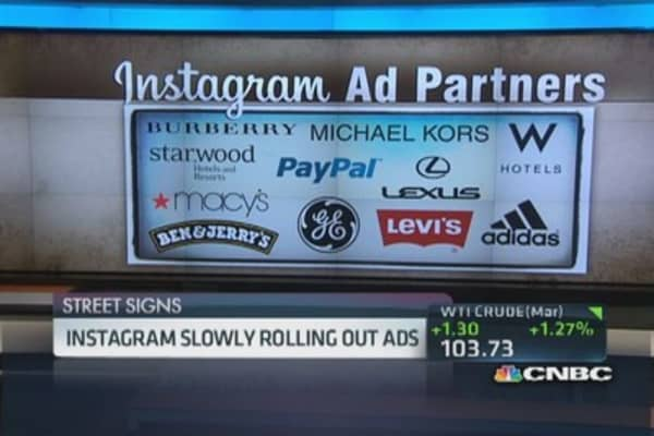Instagram slowly rolls out ads