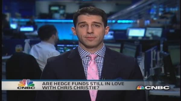 Are hedge funds still in love with Chris Christie?