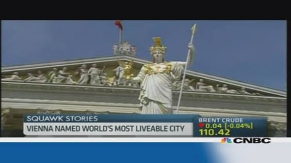 This is the world's best city...