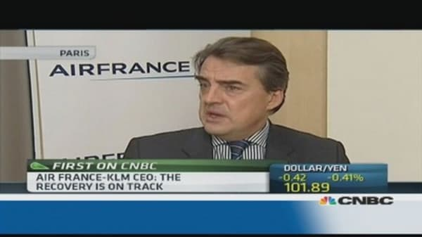 The euro zone recession is over: Air France-KLM CEO