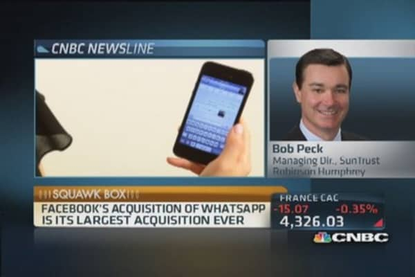 Facebook buying WhatsApp in $19B deal