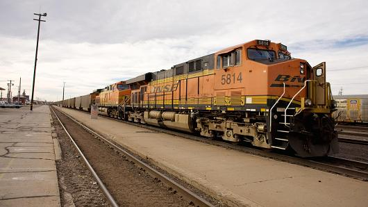 A BNSF Railway Company train.