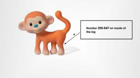 Go Gaga Squeeze & Teethe Coco the Monkey