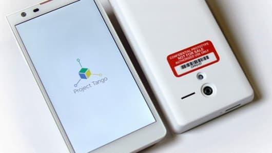 Google's Project Tango prototype phone