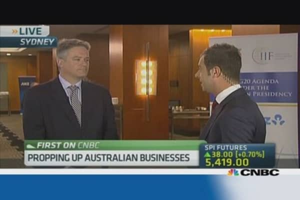 Aus Fin Min: We rely on the global economy