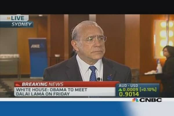 OECD's Gurria: Fed's taper 'predictable, unavoidable'