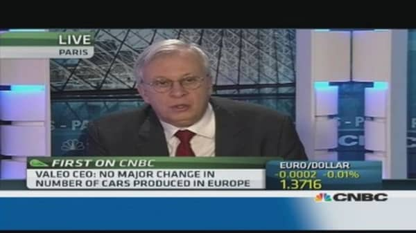 Valeo's growth will come from outside Europe: CEO