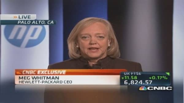 HP CEO Whitman: Have to be organized to compete