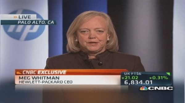 HP CEO Whitman: Objective to return HP to growth