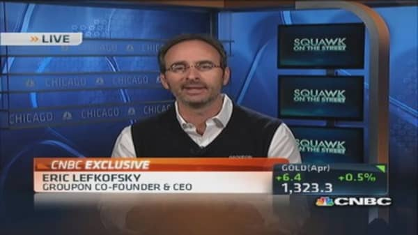 Groupon CEO: We're in 'rare air' with mobile