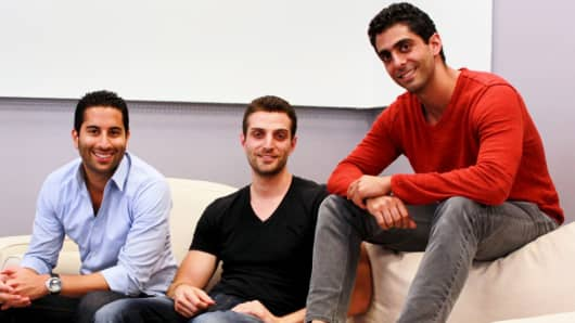 From left:  Farbod Shoraka, Gregg Weisstein and David Daneshgar of BloomNation