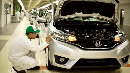 Honda plant in Celaya, Mexico