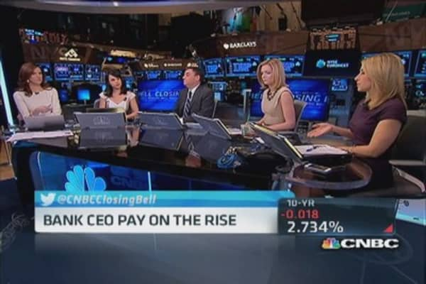 Surprise, bank CEO pay on the rise