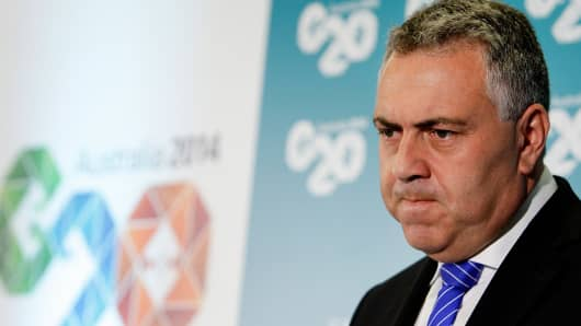 Australian Treasurer Joe Hockey