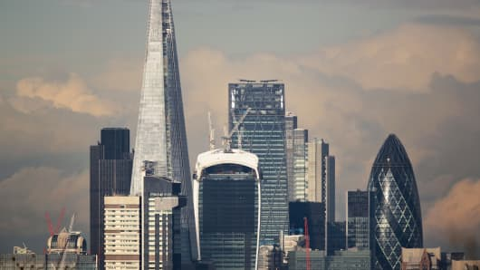 London's financial district, known as the Square Mile.