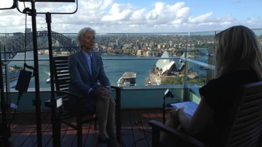 CNBC's Oriel Morrison interviews IMF chief Christine Lagarde