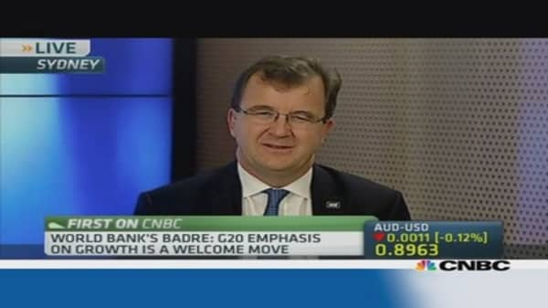 World Bank: We support G-20's growth agenda