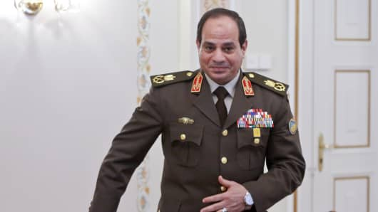 Egyptian army chief Abdel Fattah al-Sisi