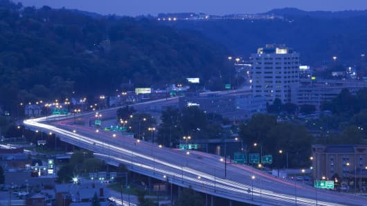 I-64, Charleston, West Virginia.