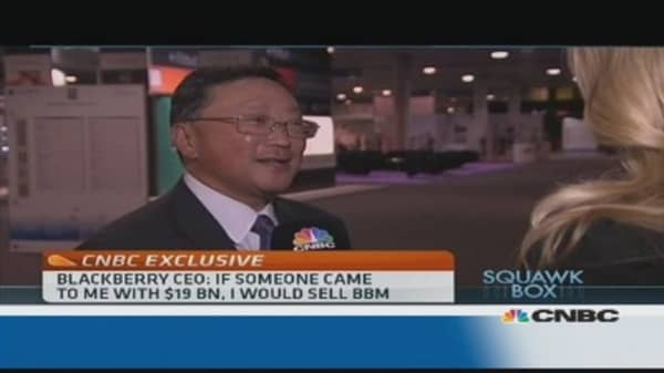 I would take $19 billion for BBM: BlackBerry CEO