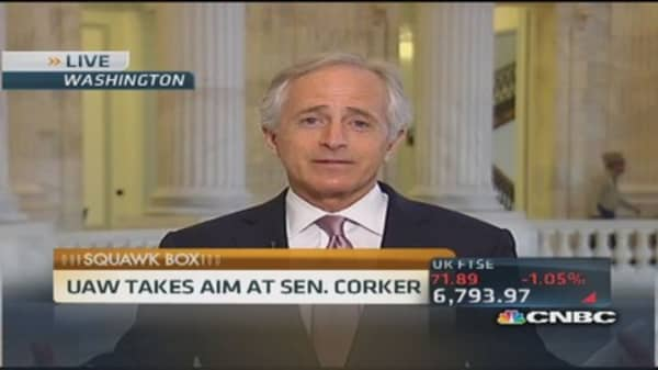 Sen. Corker: UAW was looking at workers as dollar bill