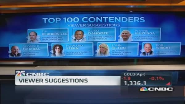 CNBC's top 100 candidates