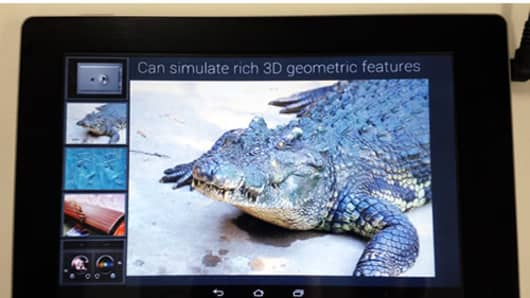 Fujitsu Develops Tablet With Sensory Touchscreen.