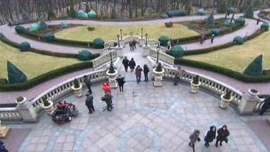 The grounds of former Ukrainian President Viktor Yanukovych's palace outside Kiev.