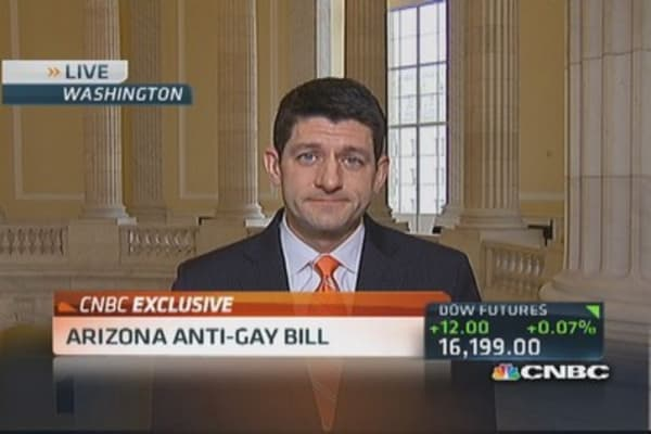 Rep. Ryan: I voted for ENDA